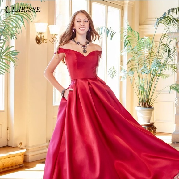 a3783d8b82e New Clarisse 3442 Red Wine Prom Dress Prom Gown